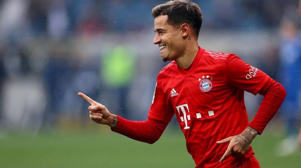 Foto: Philippe Coutinho celebra un gol en un partido del Bayern de la Bundesliga. (Reuters)