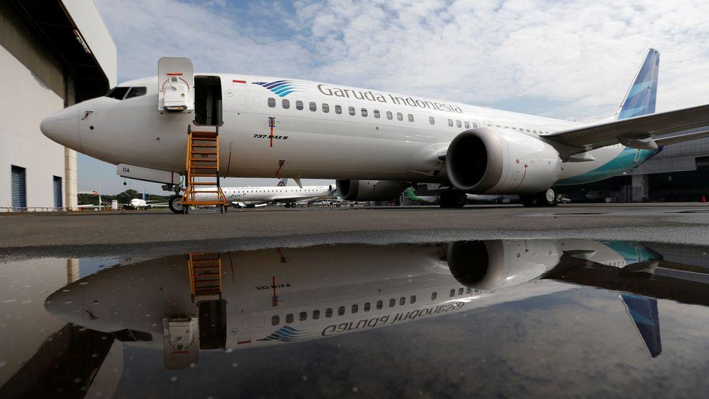 Foto: Un Boeing 737 Max 8 de la aerolínea Garuda Indonesia. (EFE)
