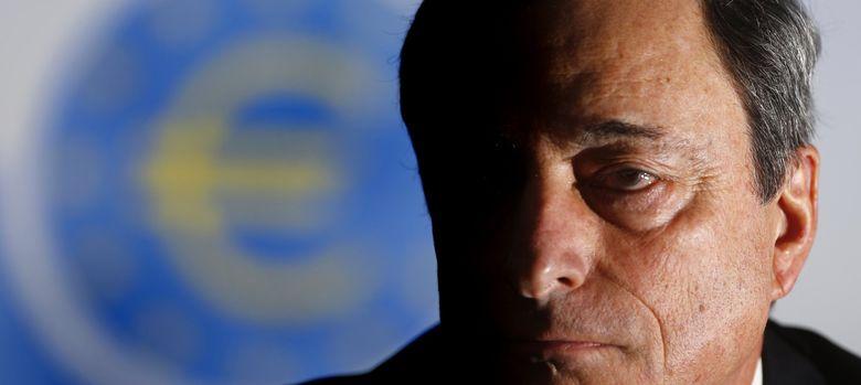 Foto: El presidente del BCE, Mario Draghi, durante la rueda de prensa de ayer en Fráncfort