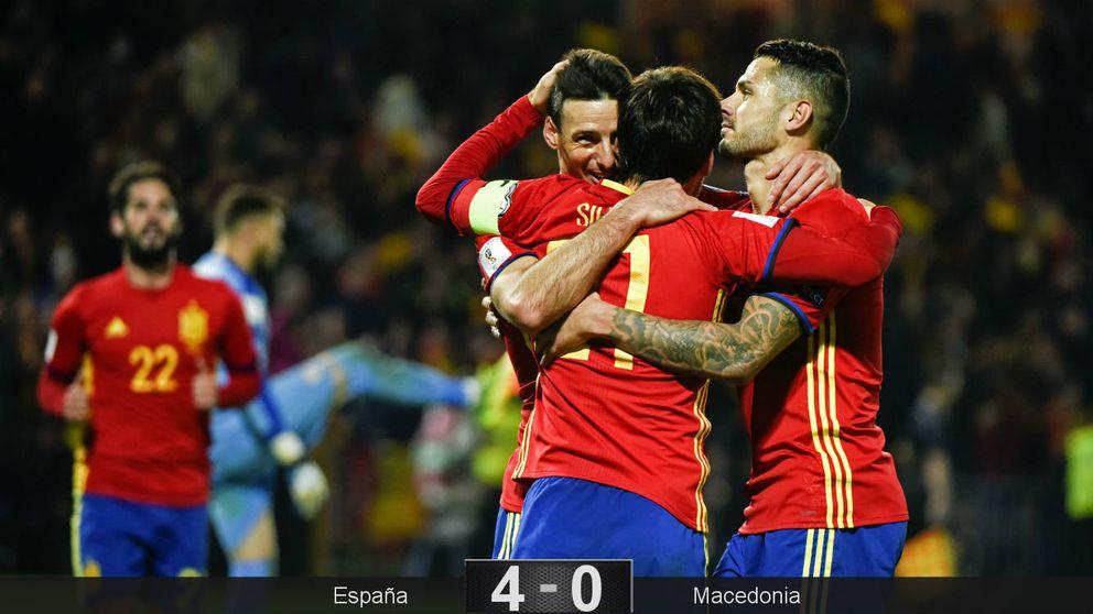 La España de Lopetegui también golea cuando no juega bien al ritmo de Silva