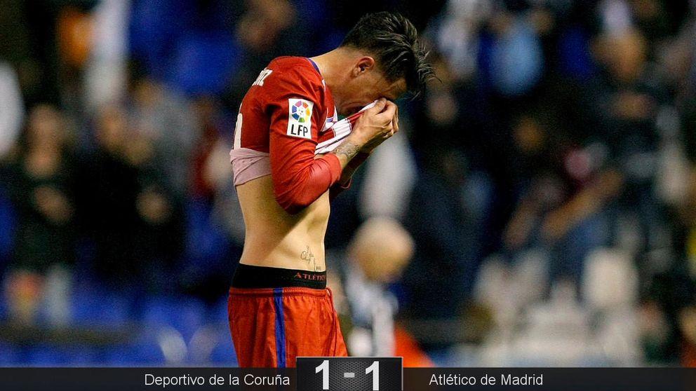 El Atleti paga su relajación y un grosero fallo de Giménez quedándose sin liderato