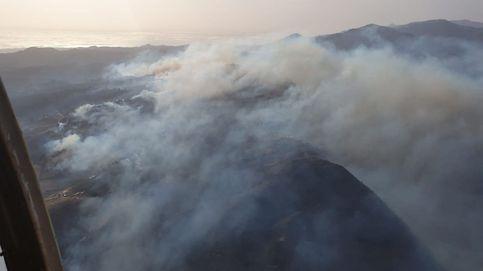 Vista aérea del incendio de Gran Canaria