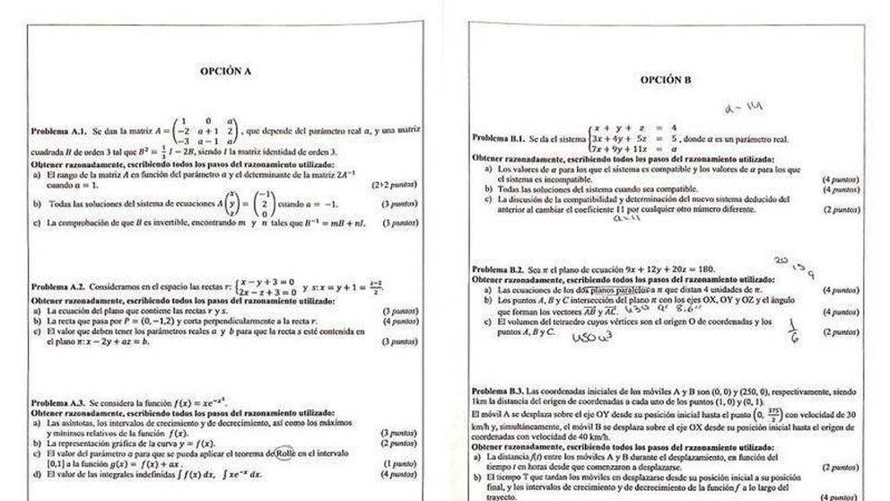Polémica en Valencia ante el 'inalcanzable' examen de matemáticas de selectividad