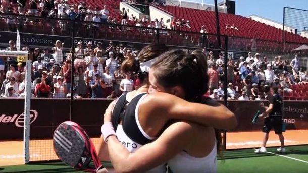 Foto: El abrazo de la victoria de 'las Martas'. (World Pádel Tour)