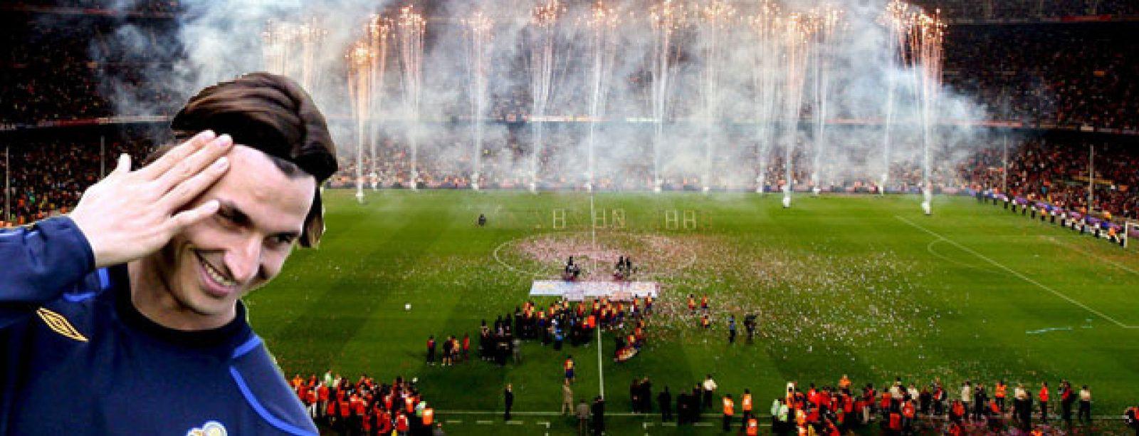 Foto: El Camp Nou ya espera a Ibrahimovic