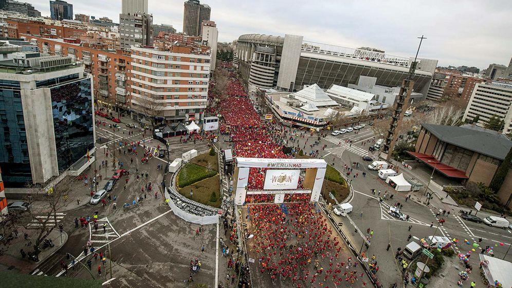 Foto: Imagen aérea de la San Silvestre Vallecana de 2013. (Efe)