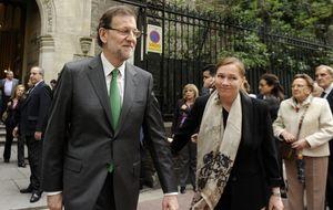 Navidad sin muletas y 'sin humos' para Rajoy y Viri en Sanxenxo