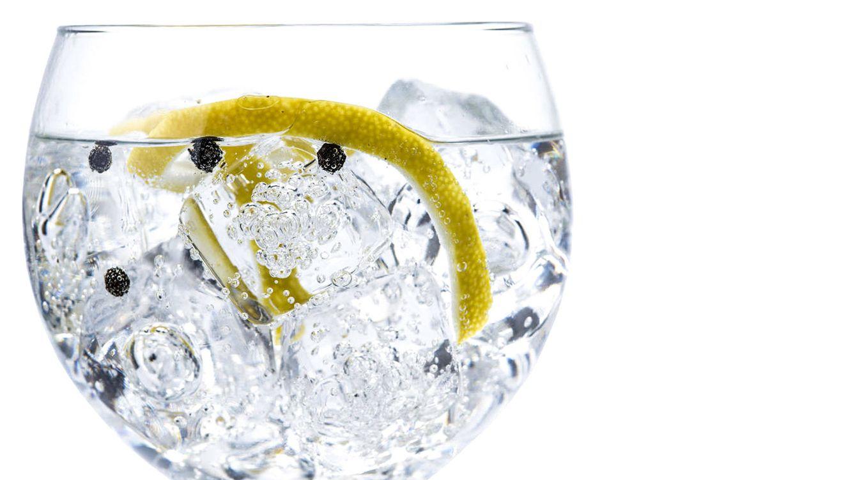 Foto: Resultado final tras los diez pasos de preparación de un gin tonic.