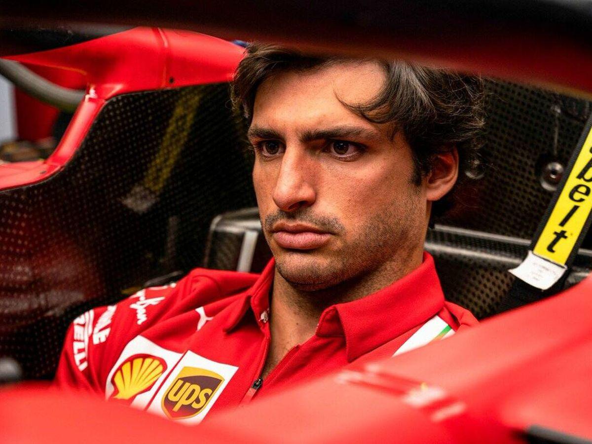 Foto: Sainz no se mostraba totalmente satisfecho de su balance parcial de su debut con Ferrari al llegar la pausa veraniega ¿Qué fallaba?