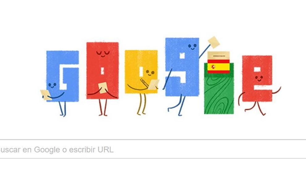 Las elecciones generales del 26 de junio, homenajeadas en el 'doodle' de Google