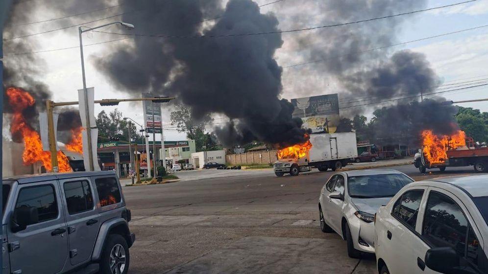 Foto: Una ola de extrema violencia sacudió Culiacán para liberar a Ovidio Guzmán (EFE)