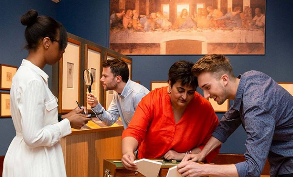 Foto: Imagen del 'Escape Room' de Leonardo da Vinci en Buckingham Palace. (Royal Trust Collection)
