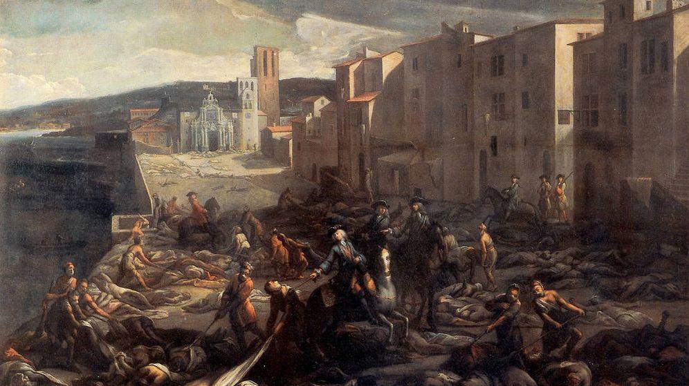 Foto: La peste en Londres de 1665, en el lienzo 'Le chevalier Roze déblayant la Tourette au plus fort de la peste', de Michel Serre (1658-1733).