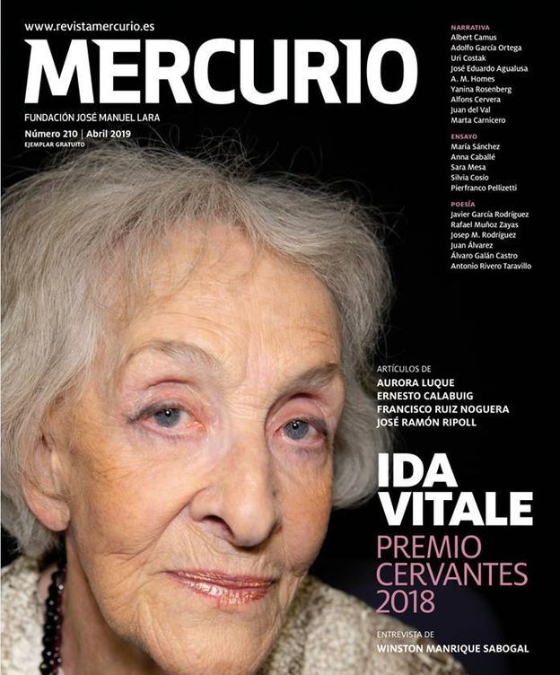 Foto: Última portada de la revista Mercurio.