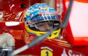 Para Alonso no hubo batalla con Vettel, pensó incluso en la retirada