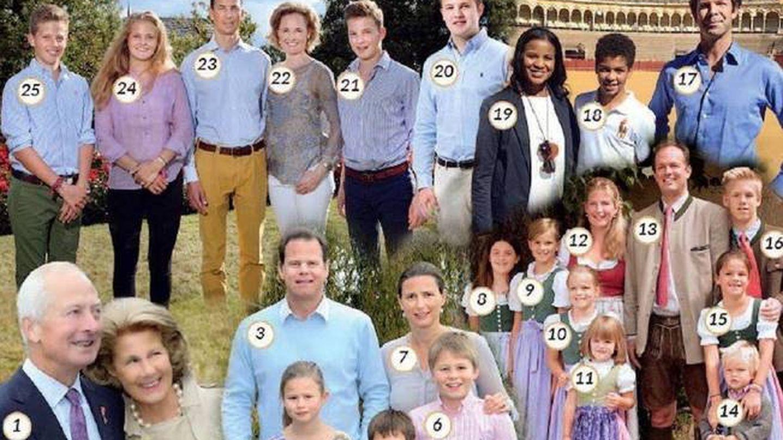 Hans Adams y su numerosa familia, en una foto numerada por 'Luxarazzi'