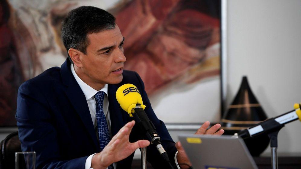 Foto: El presidente del Gobierno en funciones, Pedro Sánchez, en una entrevista en la Cadena Ser. (EFE)