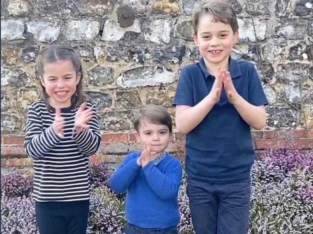 Foto: George, Charlotte y Louis de Cambridge. (Kensington Palace)