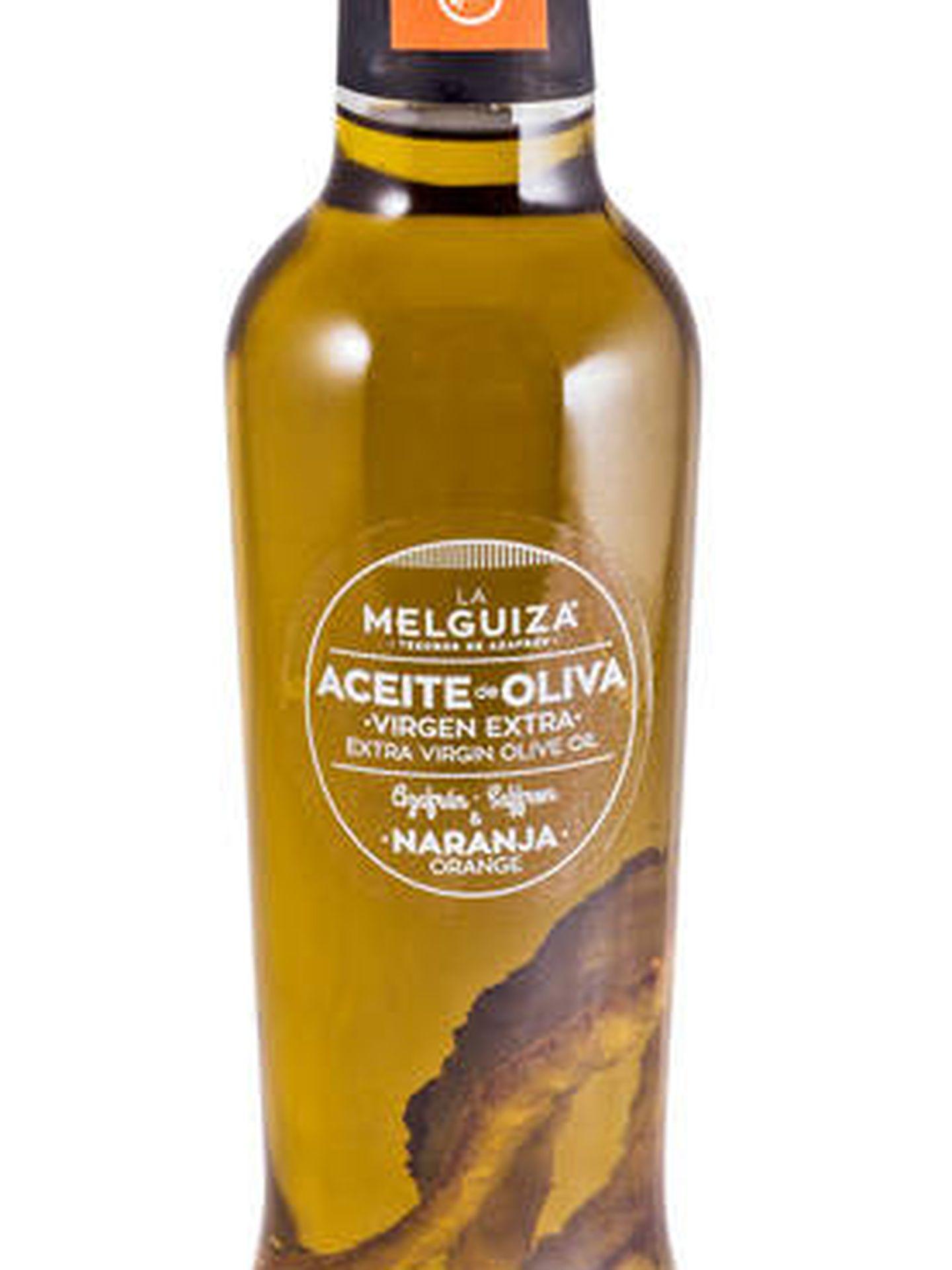 Aceite de oliva virgen con naranja y azafrán de La Melguiza
