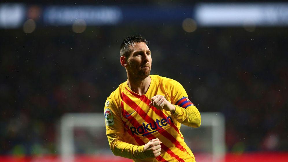 Foto: Leo Messi, celebrando su gol ante el Atlético de Madrid. (EFE)