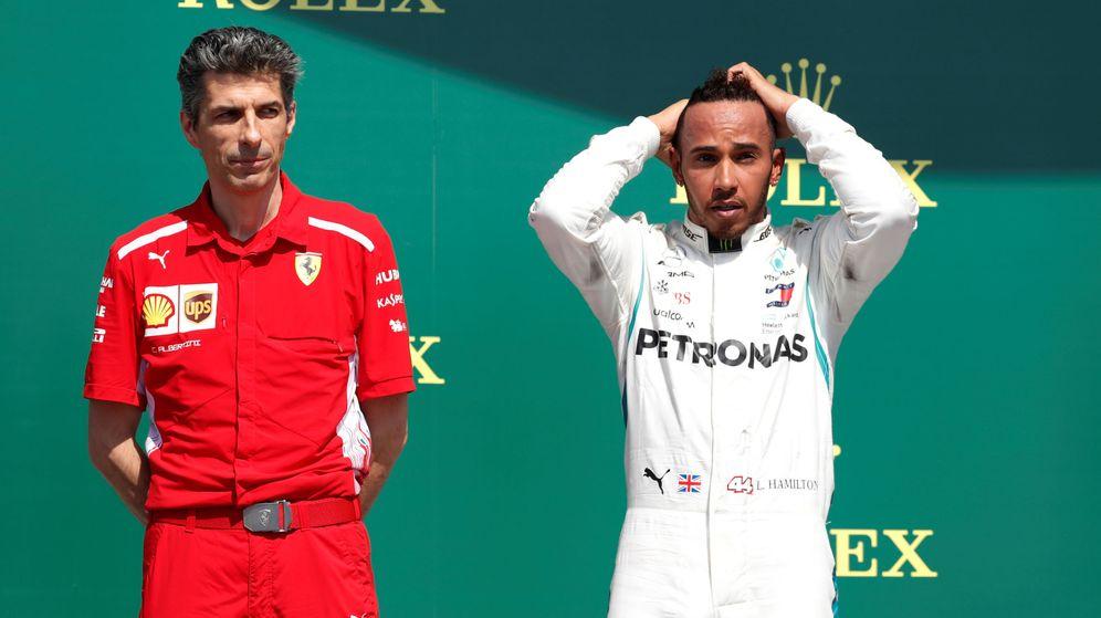 Foto: Hamilton no tenía motivos para celebrar su segundo puesto (REUTERS)