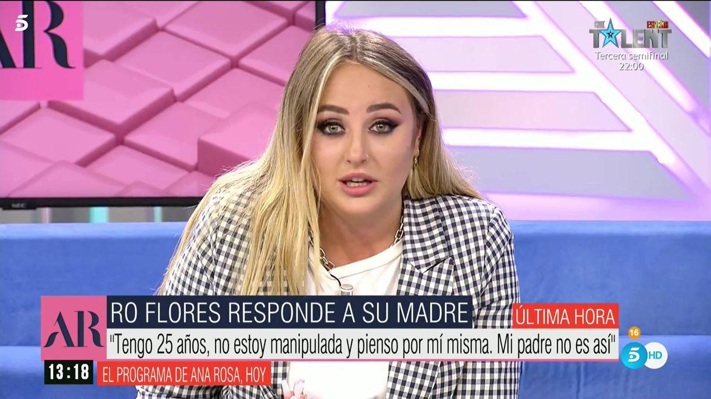 Rocío Flores, destrozada, paraliza 'Ana Rosa' con un mensaje a su madre, Rocío Carrasco