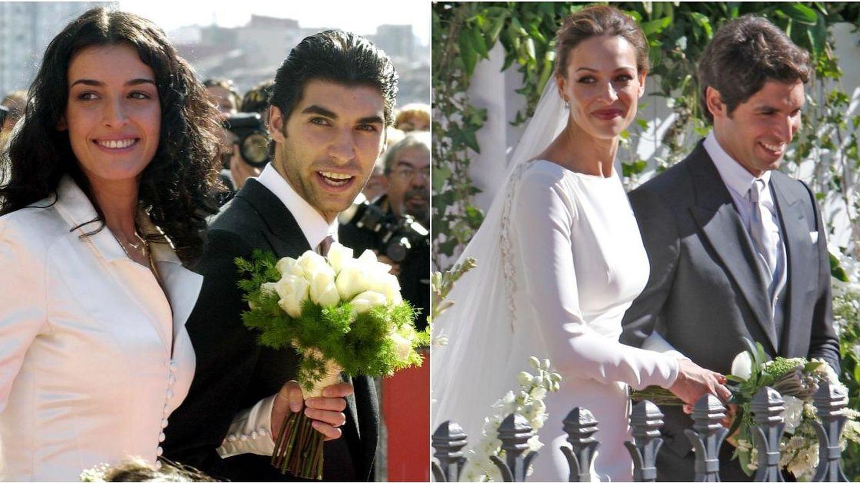 Foto: Cayetano Rivera, primero en su boda con Blanca Romero y luego con Eva González