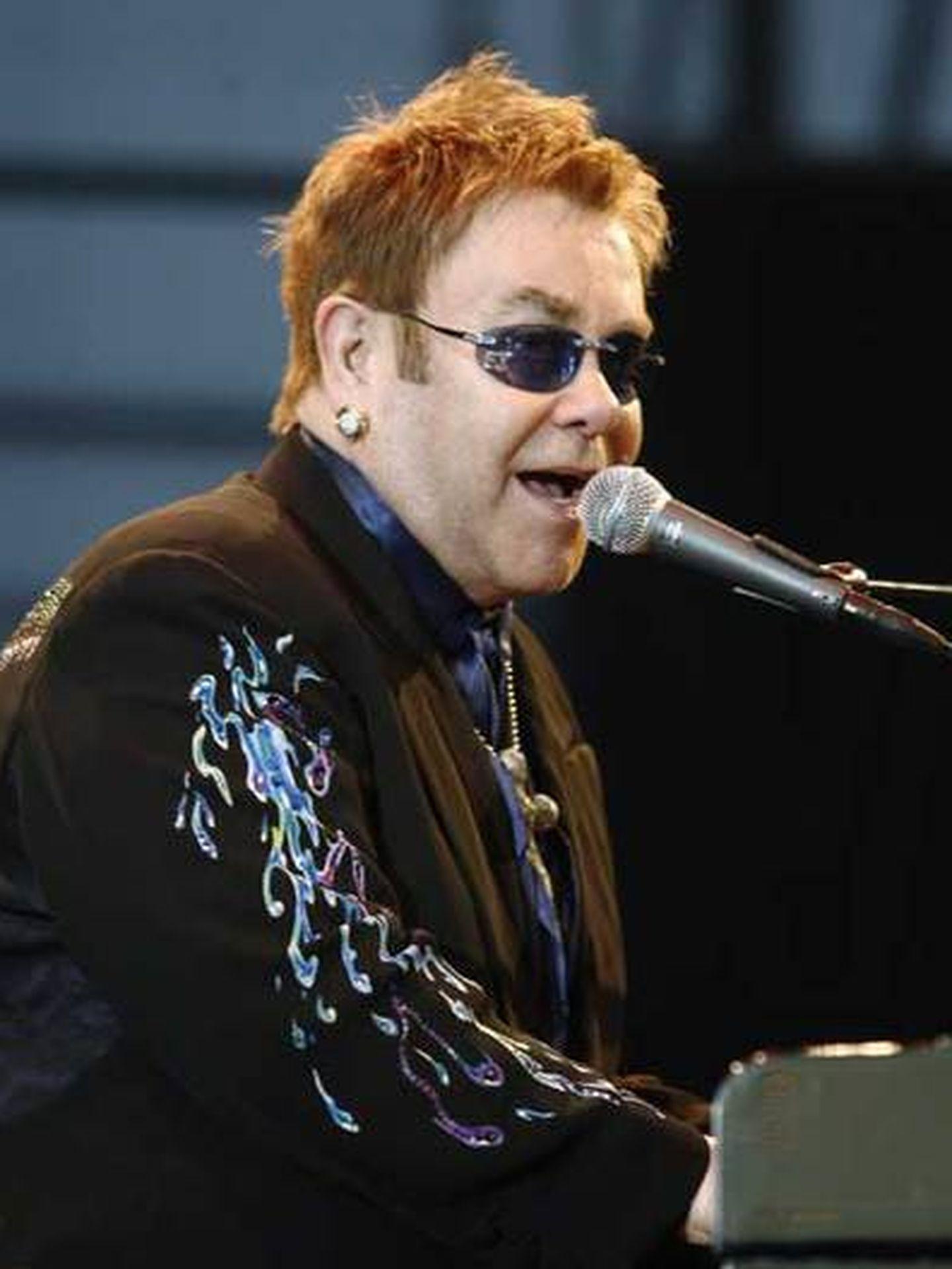 Elton John en Collado Villalba en 2007. (Reuters)