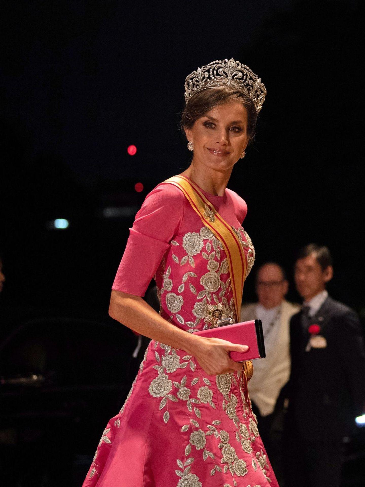 La reina Letizia, cuando lució tiara por última vez. (EFE)