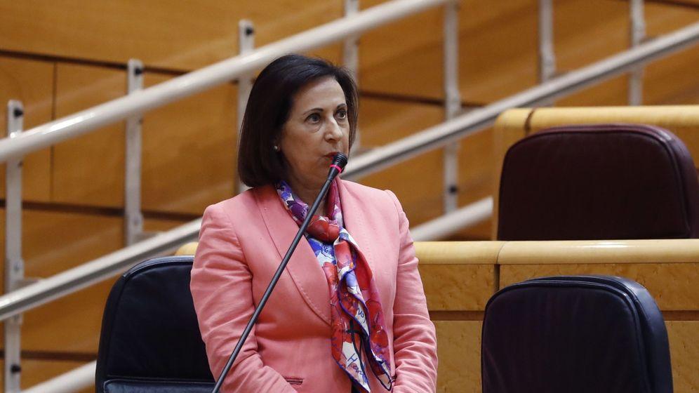 Foto: La ministra de Defensa, Margarita Robles, en el Senado. (EFE)