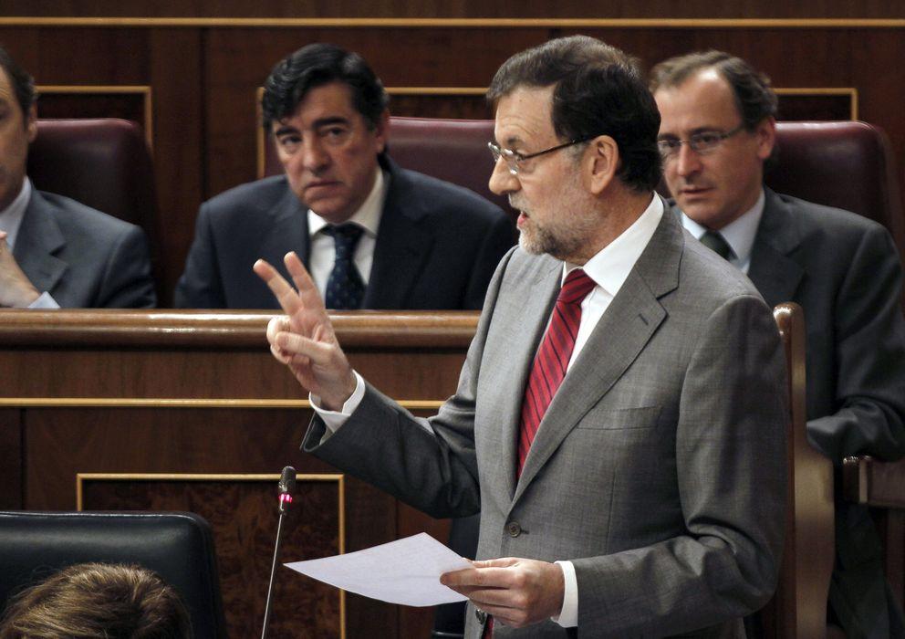 Foto: Mariano Rajoy en la sesión de control al Gobierno (Efe)