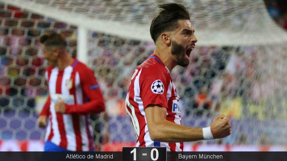 Foto: Carrasco celebra su gol ante el Bayern. (Reuters)