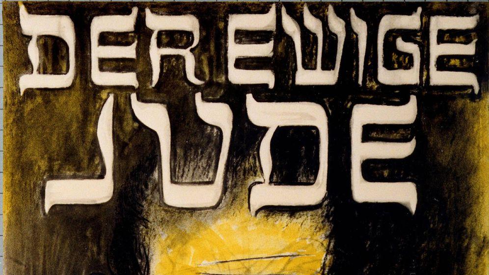 Foto: Detalle del cartel de un filme antisemita nazi
