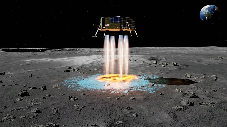 Foto: El sistema que nos permitirá volver a pisar la Luna sin peligro. (Masten)