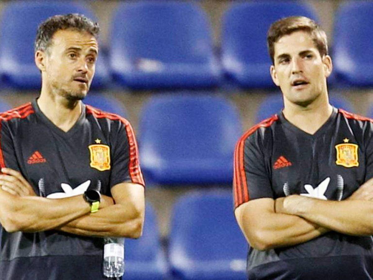 Foto: Luis Enrique (i) y Roberto Moreno. (EFE)