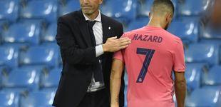 Post de Zidane se la juega con Hazard: tiene que ser duro con el belga si le sobran kilos