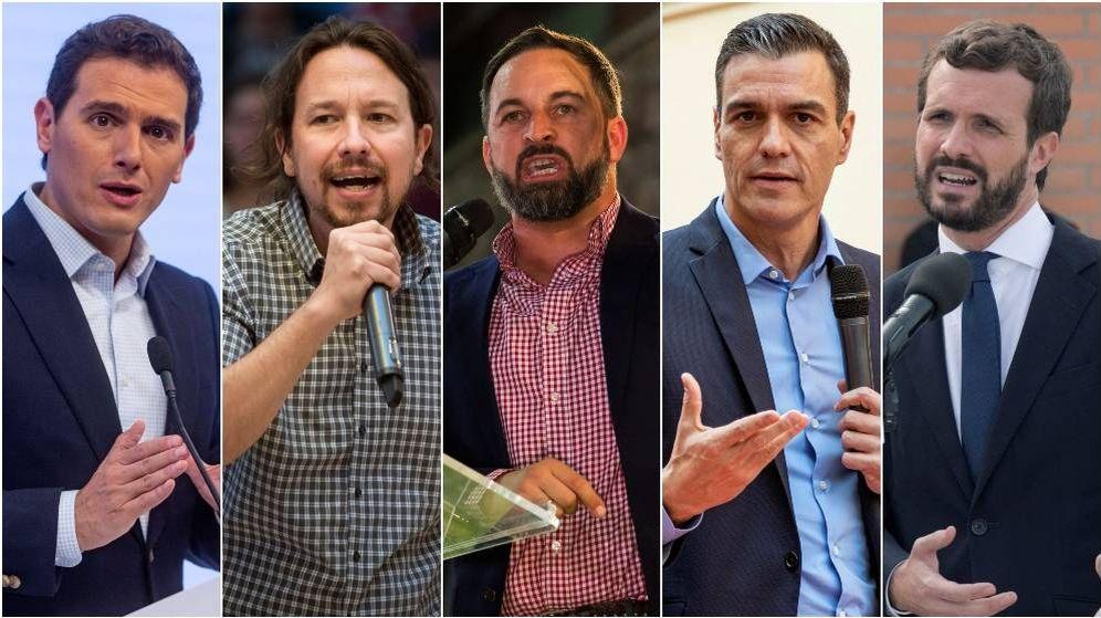 Foto: Debate a cinco organizado por la Academia de la Televisión. (El Confidencial)