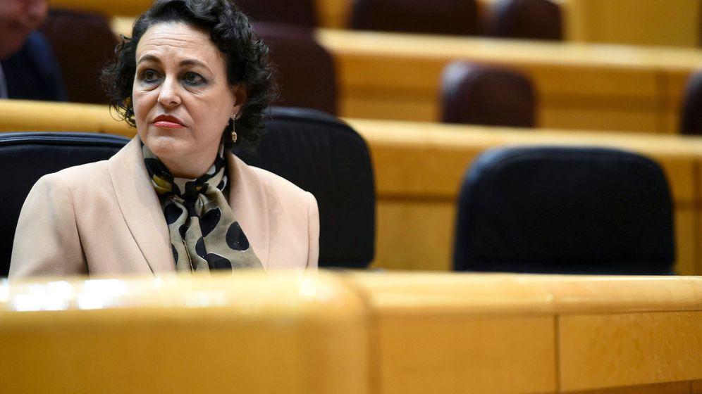 Foto: La ministra de Trabajo, Magdalena Valerio, en el Senado. (EFE)