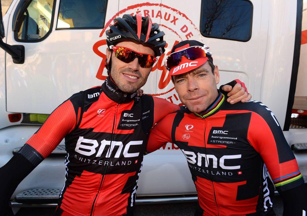 Foto: Samuel Sánchez junto a Cadel Evans durante el Giro de Italia (Imago).