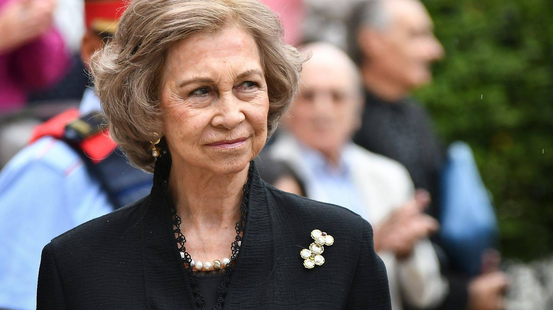 La Reina, en el funeral de Montserrat Caballé. (Getty)