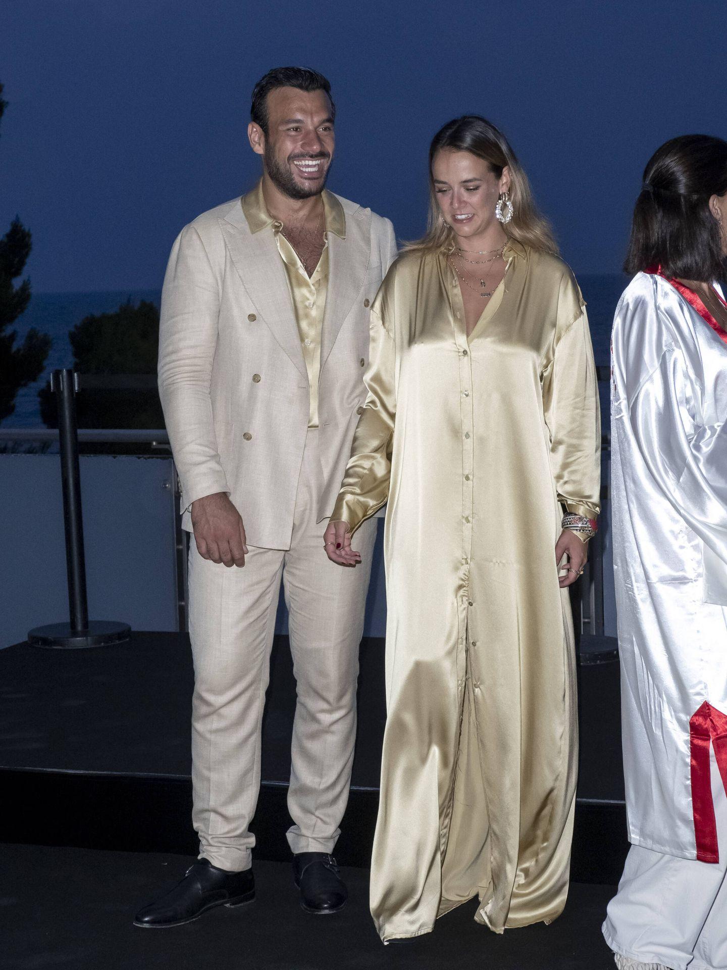 Pauline Ducruet y Maxime Giaccardi, en la gala contra el sida de Mónaco. (Getty)