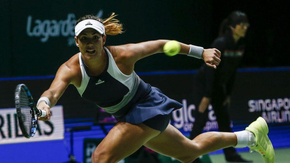Foto: Garbiñe Muguruza, en un momento de su partido contra Lucie Safarova (Efe).