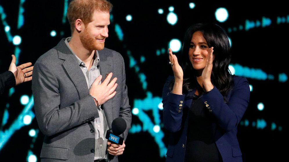 Foto: Harry y Meghan en el WE Day UK. (Reuters)