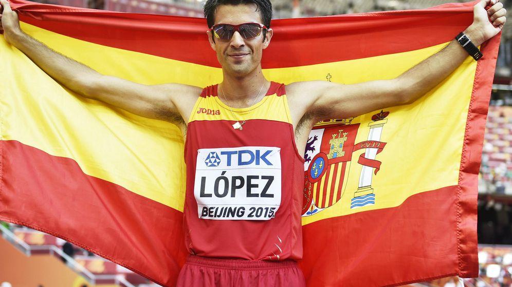 Foto: Miguel Ángel López consiguió el oro en la prueba de los 20 kilómetros marcha.