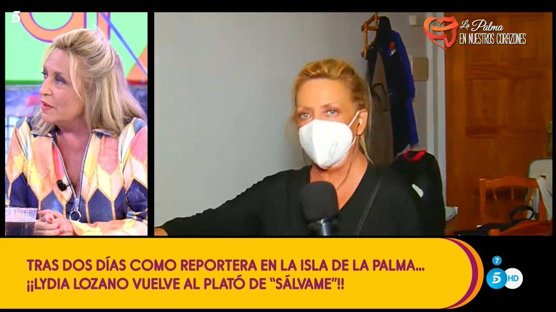 Lydia Lozano, en 'Sálvame'. (Mediaset)