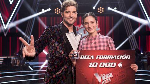 Irene y Bisbal ganan 'La voz kids' con un trofeo compartido con Daniel García