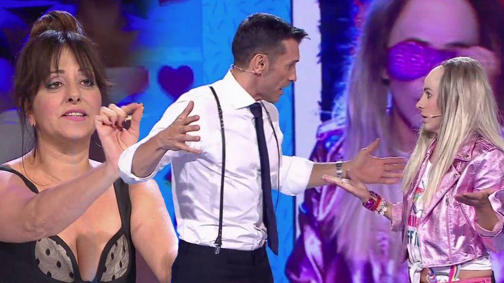 Foto: Carmen Alcayde pelea con Yolanda Ramos. (Mediaset España)