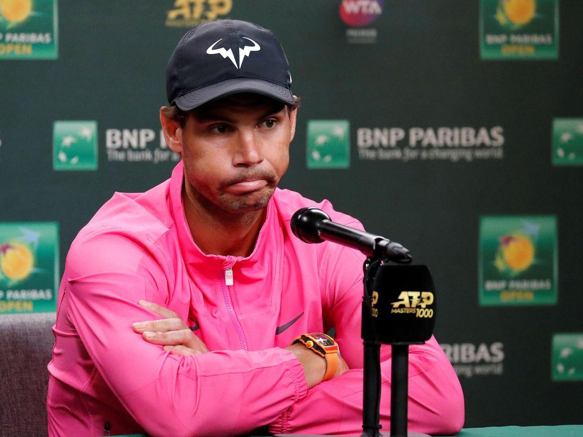 Foto: Nadal se retira de Indian Wells por molestias en la rodilla derecha. (EFE)