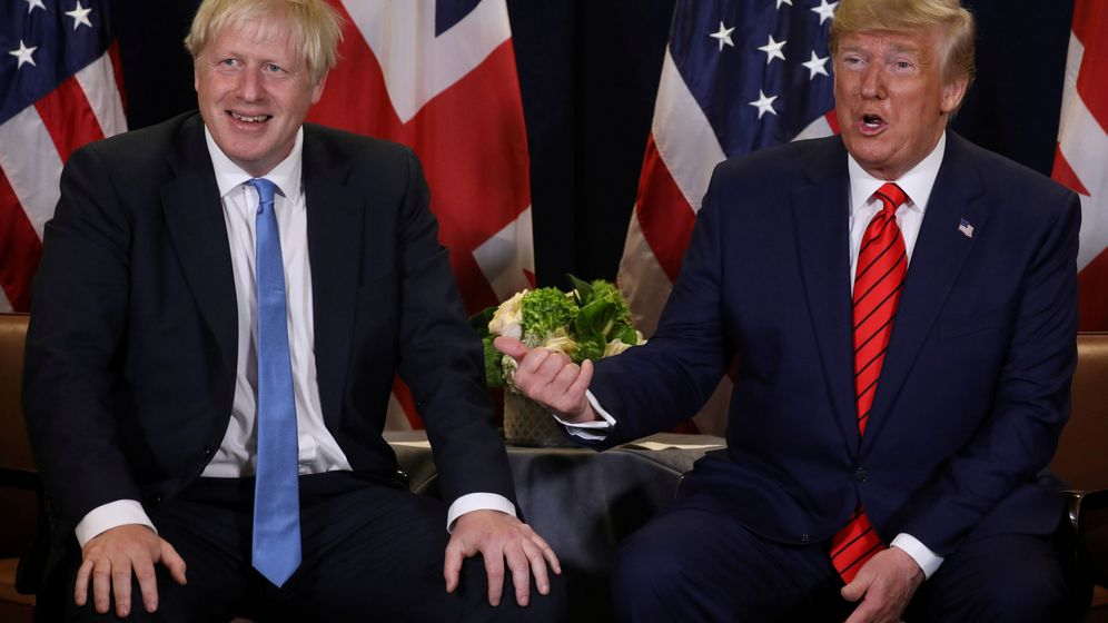 Foto: Boris Johnson y Donald Trump (Reuters)
