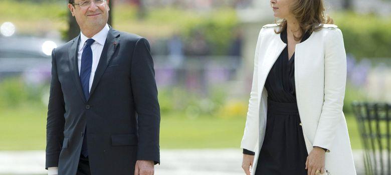 Foto: Valerie Trierweilert y François Hollande.